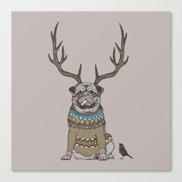Deer Pug Canvas Print