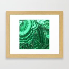 Green Agate Surface Framed Art Print