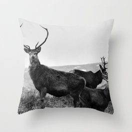 The Three Stags Throw Pillow