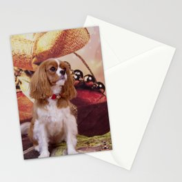 Ribbons, Bells And Cavalier King Charles Spaniel Stationery Cards