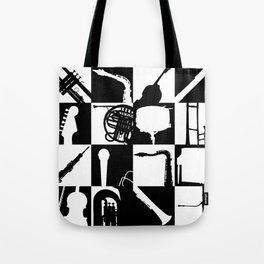 Pop Music Art B&W Tote Bag