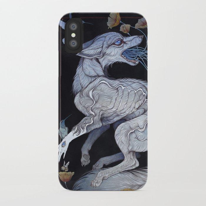 fox & poppies iphone case