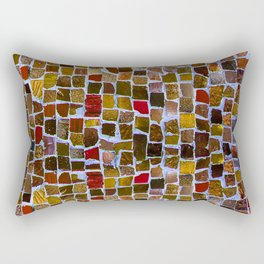 Abstract pattern in earth colors Rectangular Pillow