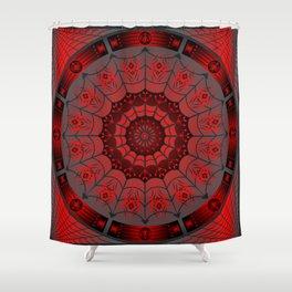 Gothic Spider Web Shower Curtain