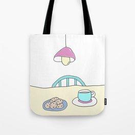 Hot beverage and cookies Tote Bag