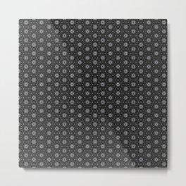 Geometric Pattern Dark Metal Print