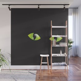 Green Cat Eyes  Wall Mural