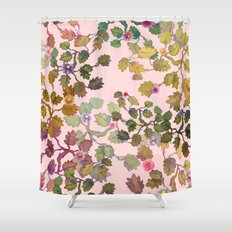 pink nature garden Shower Curtain
