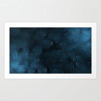 Pixelated Abstract Wallpaper Art Print