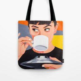 Coffee from the UFO - vintage movies poster hand drawn illustration Tote Bag