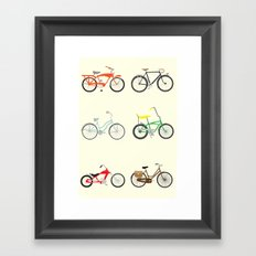 Bikes Framed Art Print