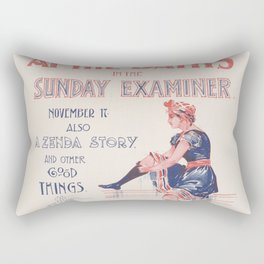 Vintage Swim Book Title Rectangular Pillow