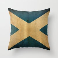 scotland Throw Pillows featuring Scotland by NicoWriter