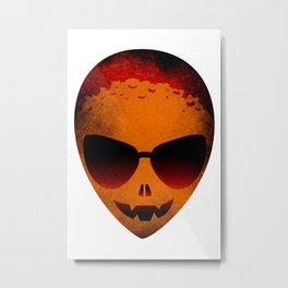 HALLOWEEN ALIEN HEAD Metal Print