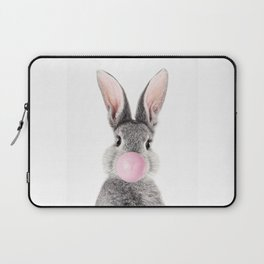 Bunny With Bubble Gum Laptop Sleeve