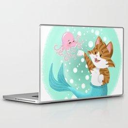 Bubbly Purrmaid Laptop & iPad Skin