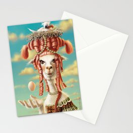 The bird and the alpaca Stationery Cards