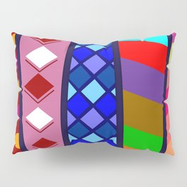 Multicolored Ties Pillow Sham