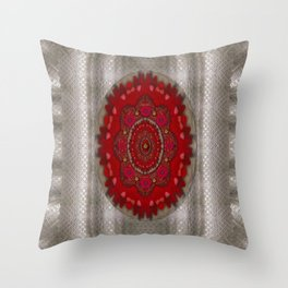 Strawberry  with waffles and fantasy-flowers in harmony Throw Pillow