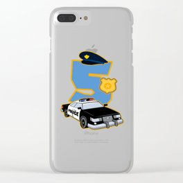 5th Birthday Police 5 Years Officer Costume Gift Clear iPhone Case