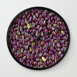Pattern design for mix positive lentils Wall Clock
