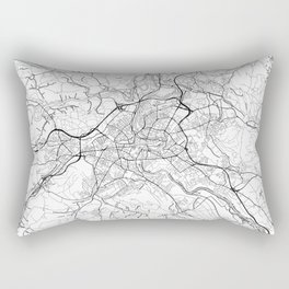 Bern Map White Rectangular Pillow