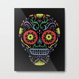 Sugar Skull SF multi -  black Metal Print