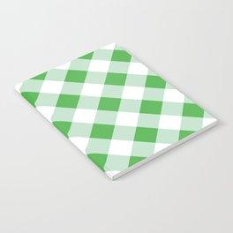 Gingham - Green Notebook