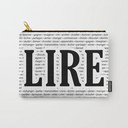 """Juste """"LIRE"""" Carry-All Pouch"""