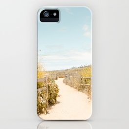 Travel photography Spring pathway I iPhone Case