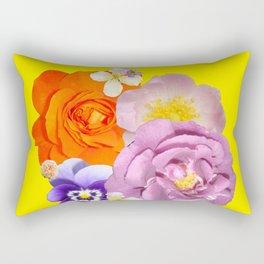 Bright Florals Rectangular Pillow