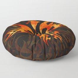 Fire Phoenix Bird Floor Pillow