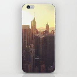 hong kong sundown iPhone Skin