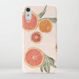 Pink Citrus iPhone Case