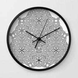 Balanced Flowering Hexad Wall Clock