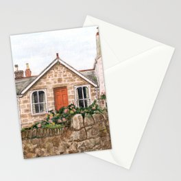 Mousehole Fishermans' Cottages UK Stationery Cards