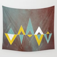 native Wall Tapestries featuring Native triangles by Metron