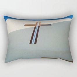 Christian Cross on Church Santorini Island Rectangular Pillow