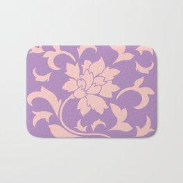 Oriental Flower - Strawberry Lilac Bath Mat