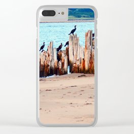 Perched on Wharf Remains Clear iPhone Case