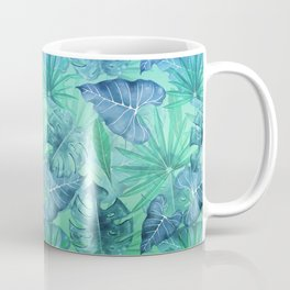 Blue and Ocean Green Summer Tropical Jungle Coffee Mug