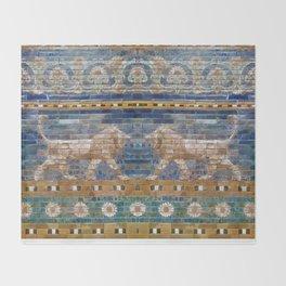 Lion Mosaic  Throw Blanket