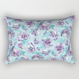 Amethyst Crystal Clusters / Violet and Aqua Rectangular Pillow