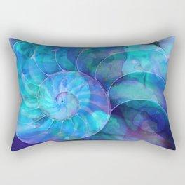 Blue Nautilus Shell  - Seashell Art By Sharon Cummings Rectangular Pillow