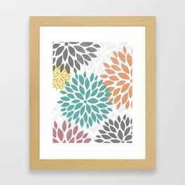 FLOWER BURST ON DISPLAY - DIGITAL FINE ART ABSTRACT PRINT Framed Art Print