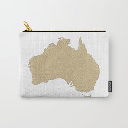 Map of Australia in gold glitter Carry-All Pouch