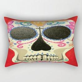 Red Skull Rectangular Pillow