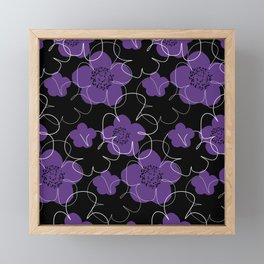 Purple Blooms Framed Mini Art Print