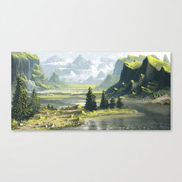 Grey River Canvas Print