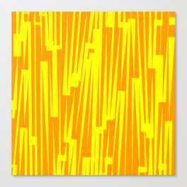 Geometric Yellow Gold Painting Canvas Print